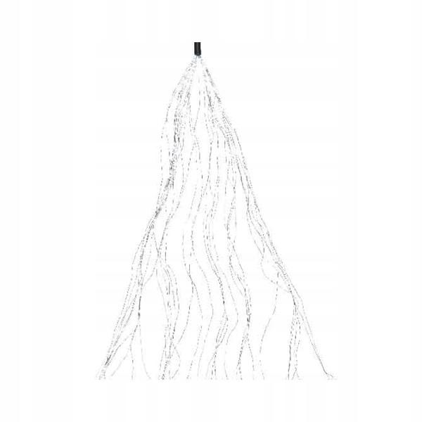 Svietidlá 640 mikro LED studené biele 190cm korálky