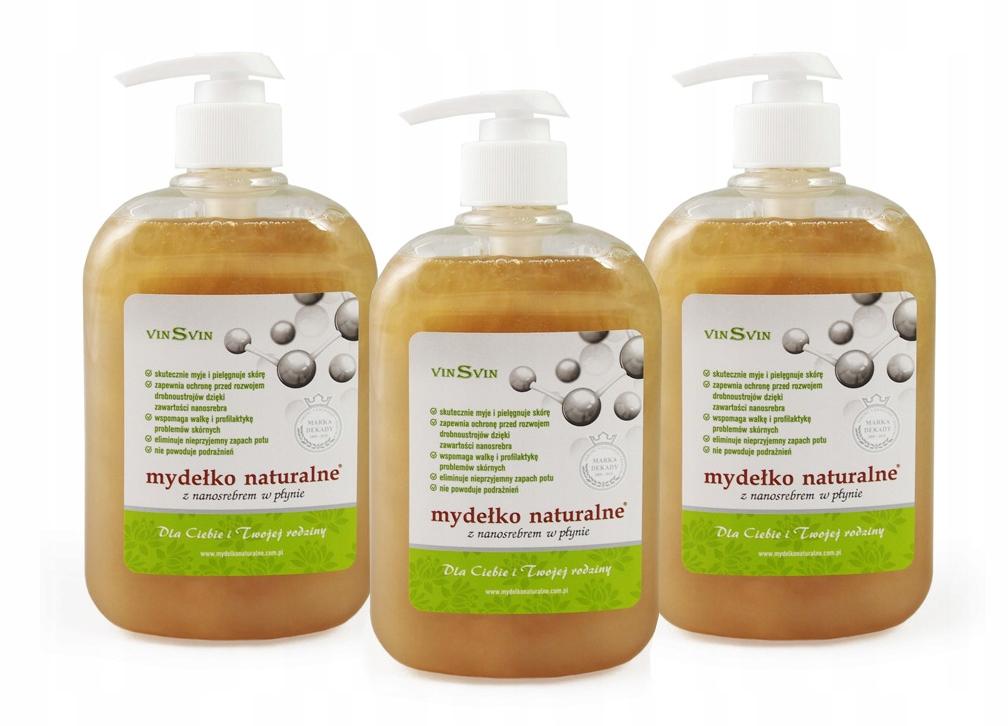 Vinsvin prírodné mydlo s 500ml Nanosbre 3ks