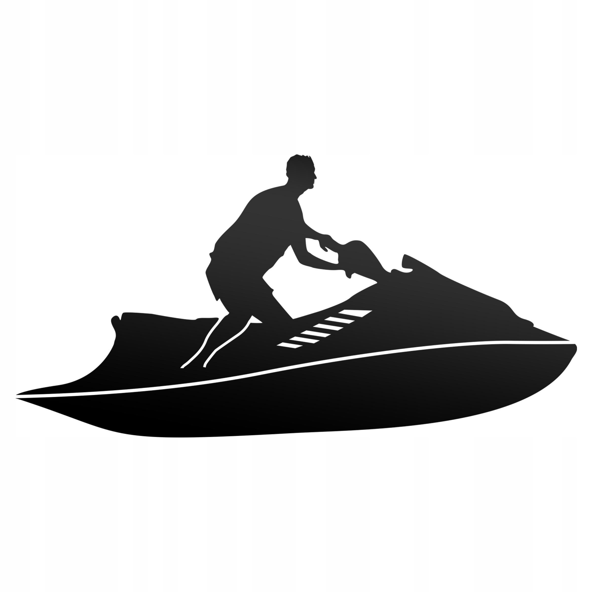 Vodný skúter nálepky šport reflexné pre auto