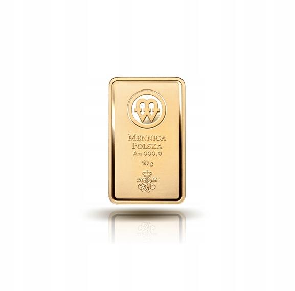 Zlatá tehlička - Poľská mincovňa - 50 g