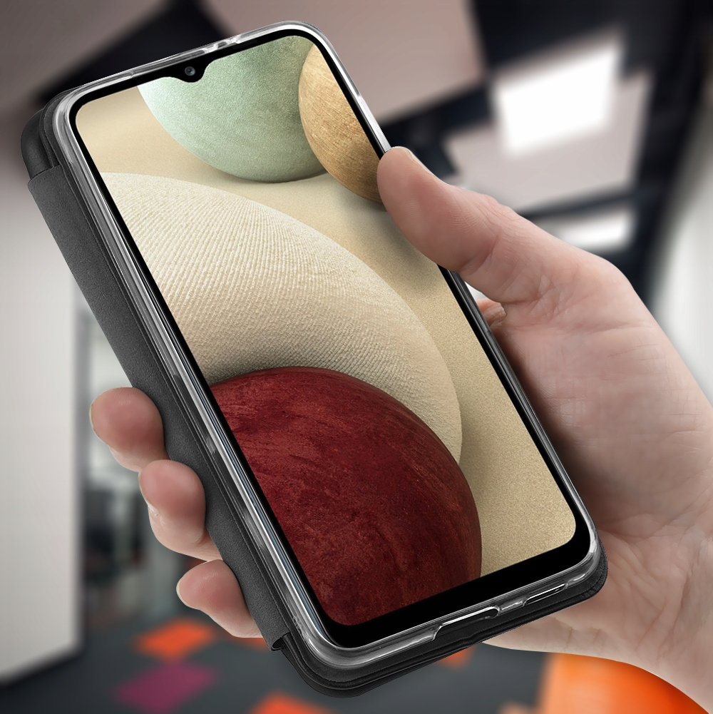 Etui do Samsung Galaxy A12 SKÓRZANE CASE + SZKŁO Producent Kraina GSM