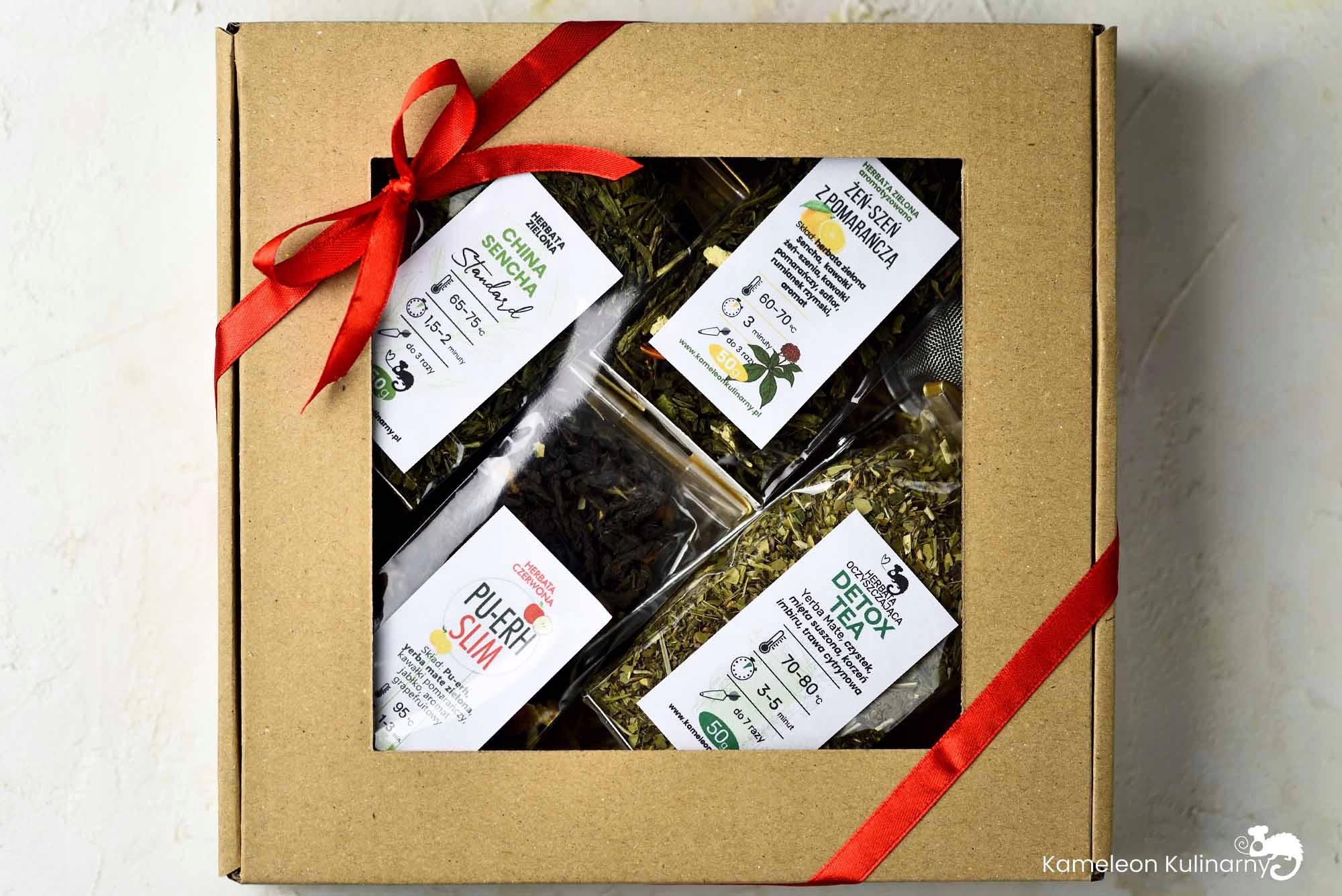 ZESTAW PREZENTOWY na prezent 4 herbaty i zaparzacz Kod producenta ZESTAW PREZENTOWY zdrowe herbatki NA ZDROWIE