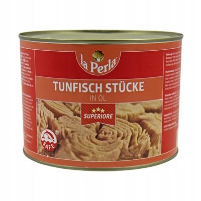 Купить Кусочки тунца La Perla в масле - банка 1,7 кг на Otpravka - цены и фото - доставка из Польши и стран Европы в Украину.