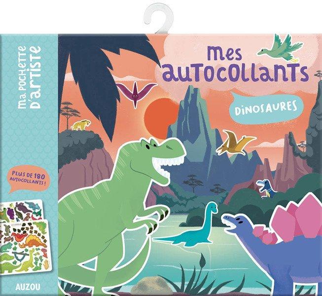Auzou Naklejki z planszami Dinozaury 3+