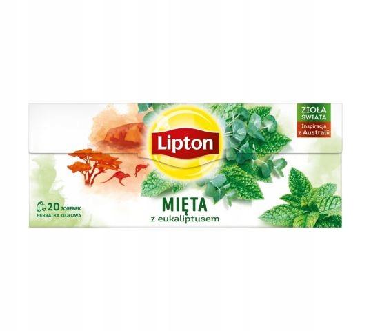 Lipton herbata ziołowa Mięta Z eukaliptusem