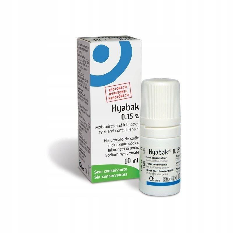 HYABAK Hypotoniczny 0,15% Krople do oczu, 10 ml