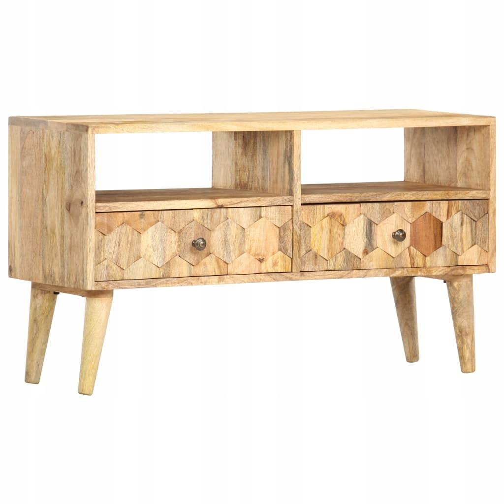 TV lavica, 90 x 30 x 50 cm, masívne mangové drevo
