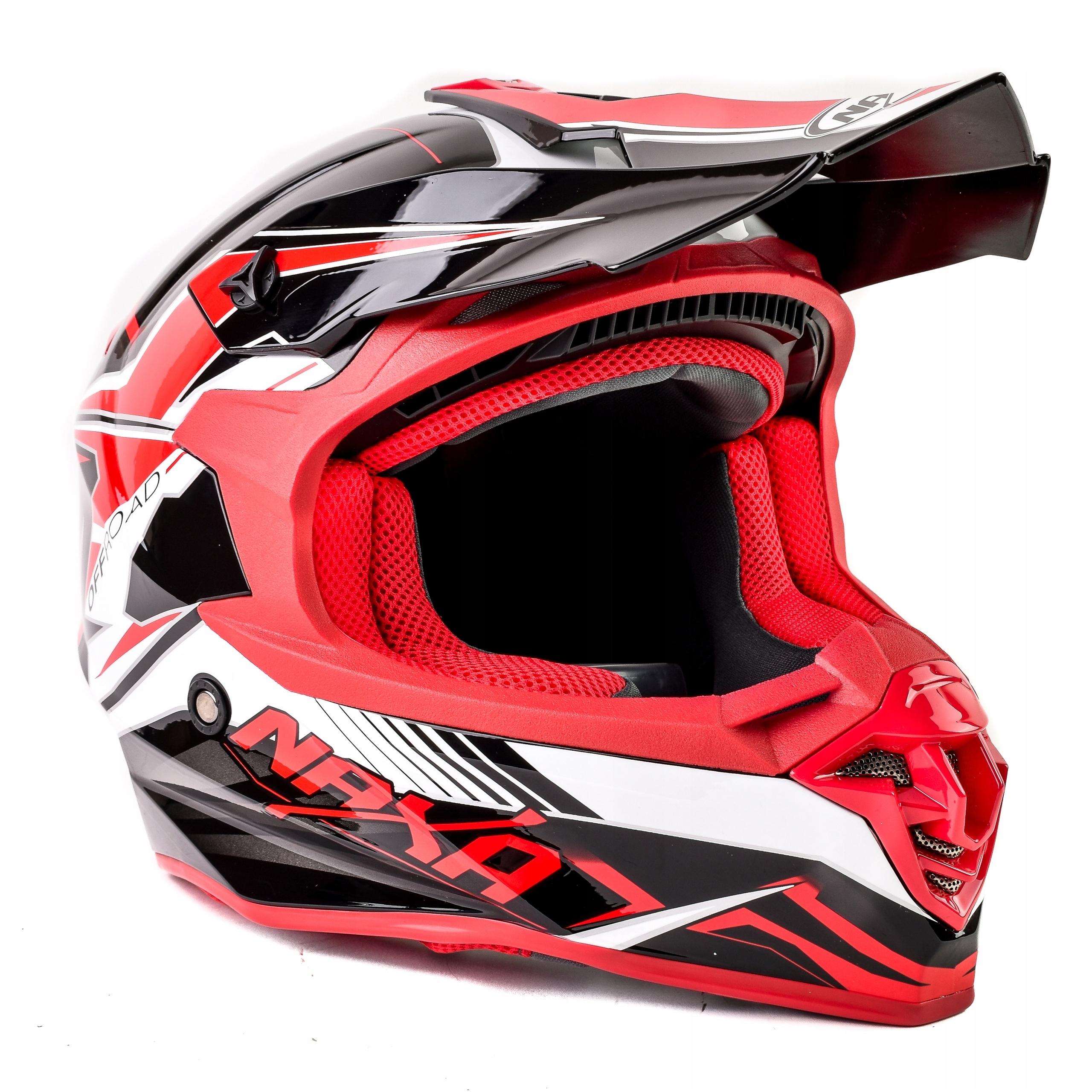 Naxa Kask Motocyklowy Cross Enduro Quad Czerwony L Kobior Allegro Pl