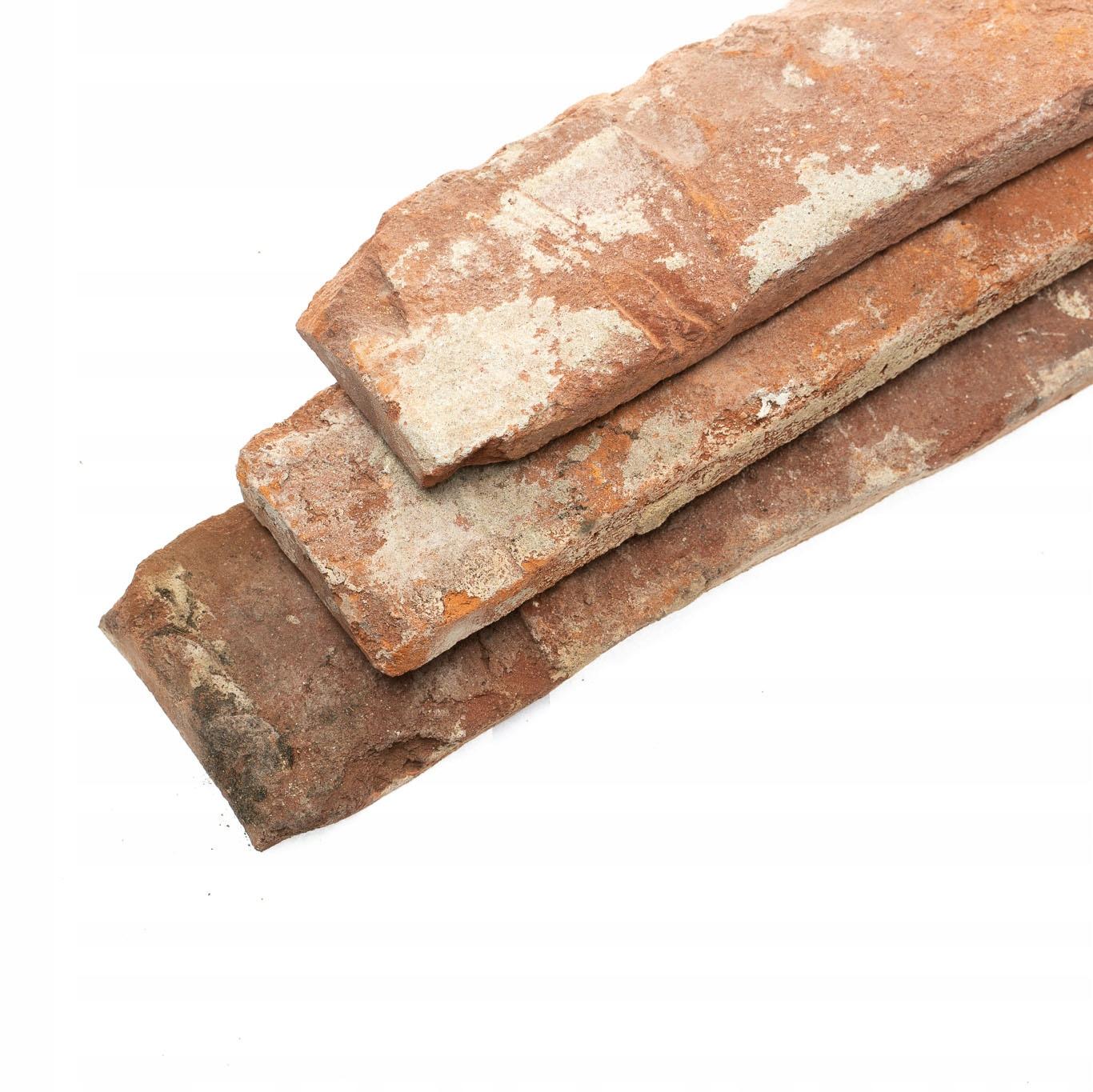 Stará búracia tehla, rezaná tehlová tvár, dlaždice 1m
