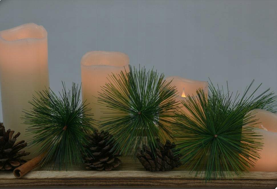 Sada LED sviečok s vetvičkou