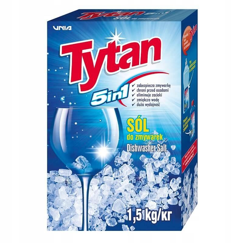 СОЛЬ защитная ДЛЯ посудомоечных МАШИН Титан 5in1 - 1,5 кг