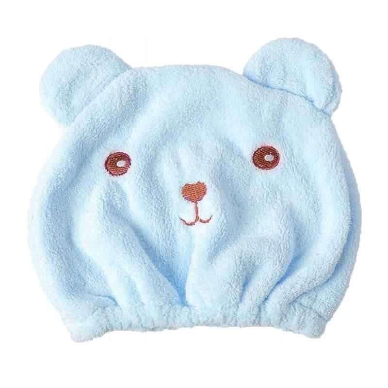 ПОЛОТЕНЦЕ ДЛЯ СУШКИ ВОЛОС Blue Teddy Bear Cap