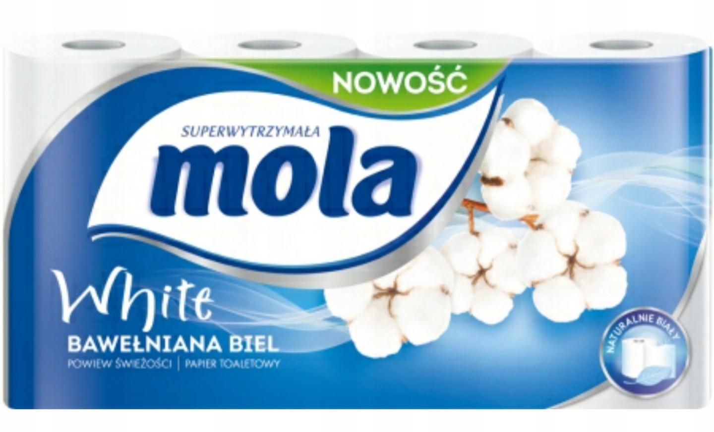 TOILET PAPER MOLA Хлопок Белый 8 рулонов