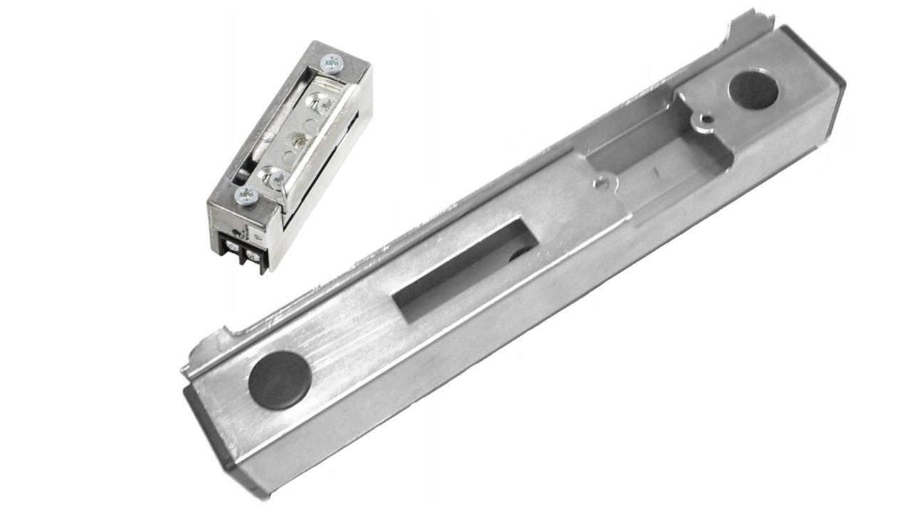 кассета + электрозащелка 12В оцинкованный ригель для калитки