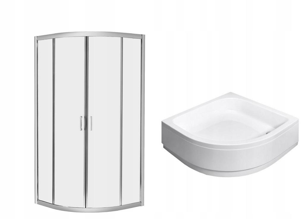 PREMIUM PLUS sprchovací kút A 80x80 x170 cm + sprchová vanička cl