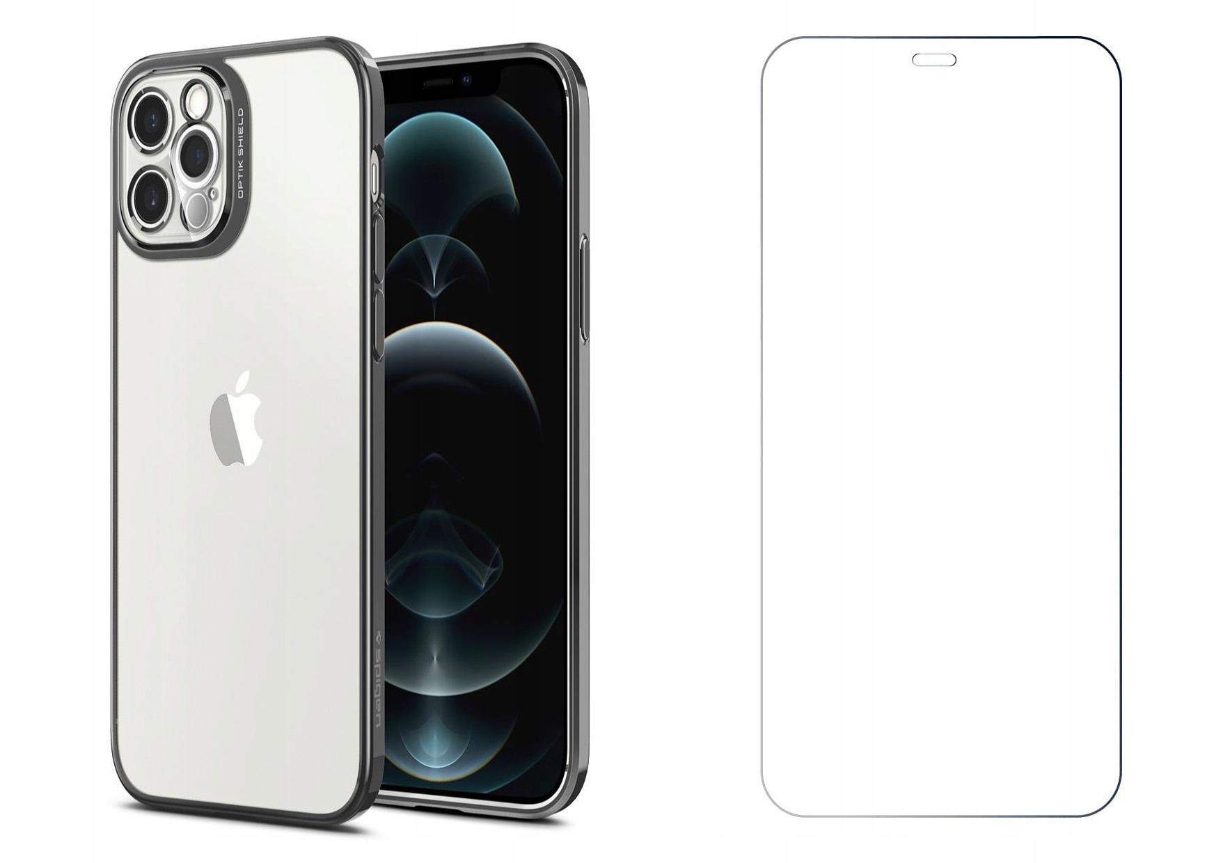 Etui Spigen Optik Crystal + Szkło do iPhone 12 Pro