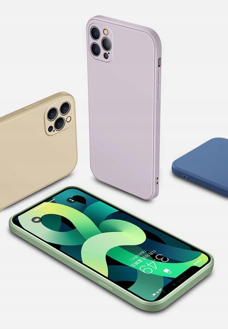 SILIKONVESKE til IPHONE 12 Pro Max + GLASS Flerfarget farge