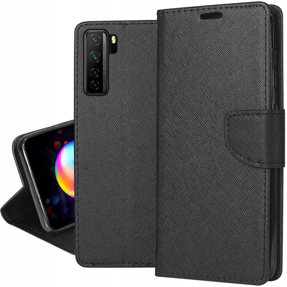 Etui do Huawei P40 Lite 5G Fancy Portfel + Szkło
