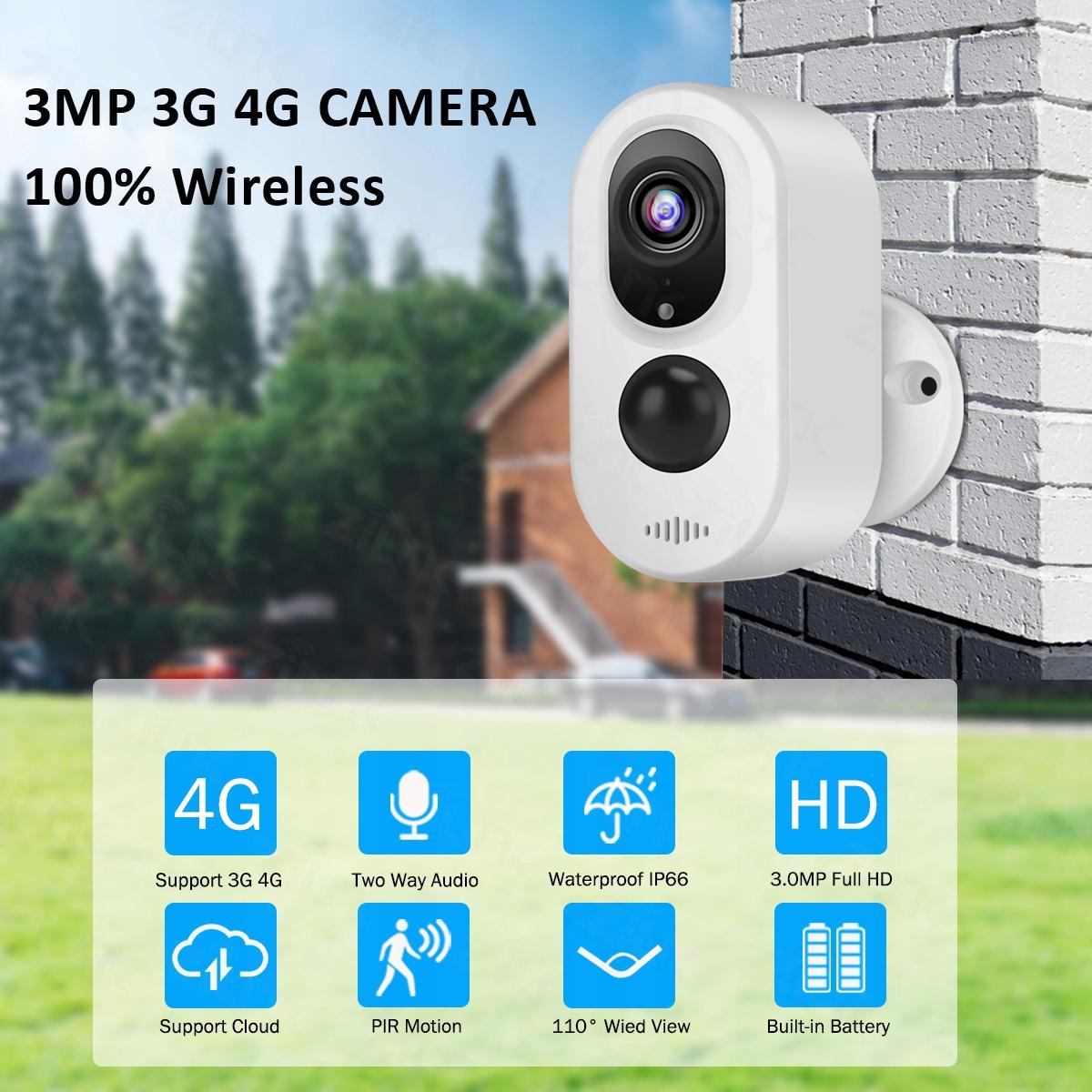 Kamera LTE 3G 4G bezprzewodowa na baterie MicroSD Model 4G