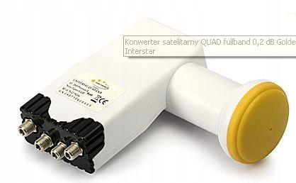 KONWERTER QUAD GOLDEN INTERSTAR 4 TUNERY HD 5LAT G