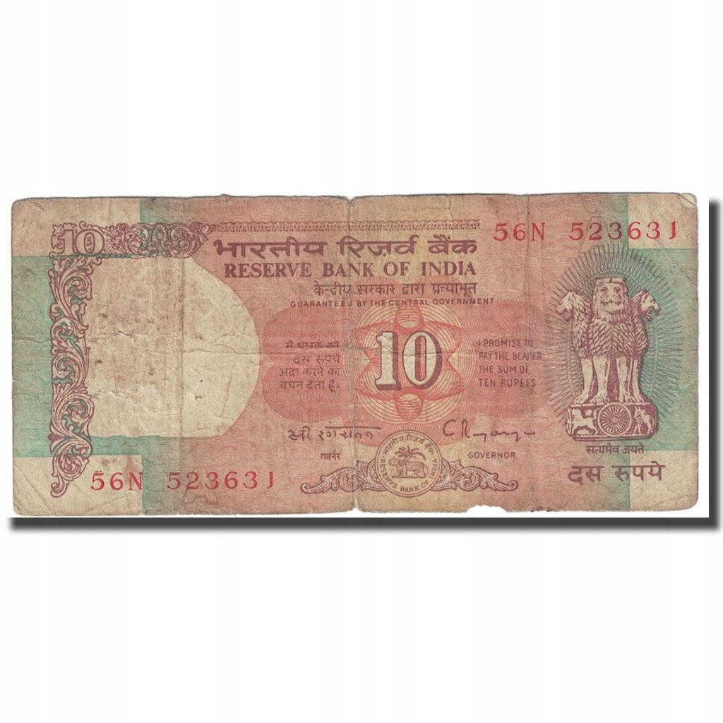 Банкнота, Индия, 10 рупий, без даты (1943 г.), КМ: 24,