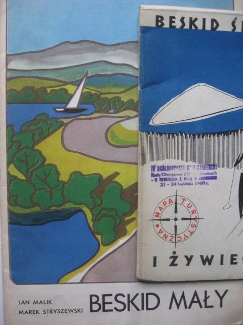 BESKID ląski ywiecki Mały MAPS 1959 г.