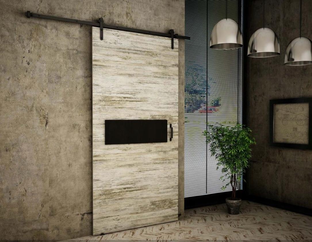 Nástenné posuvné dvere Bielená borovica RT04 90 cm