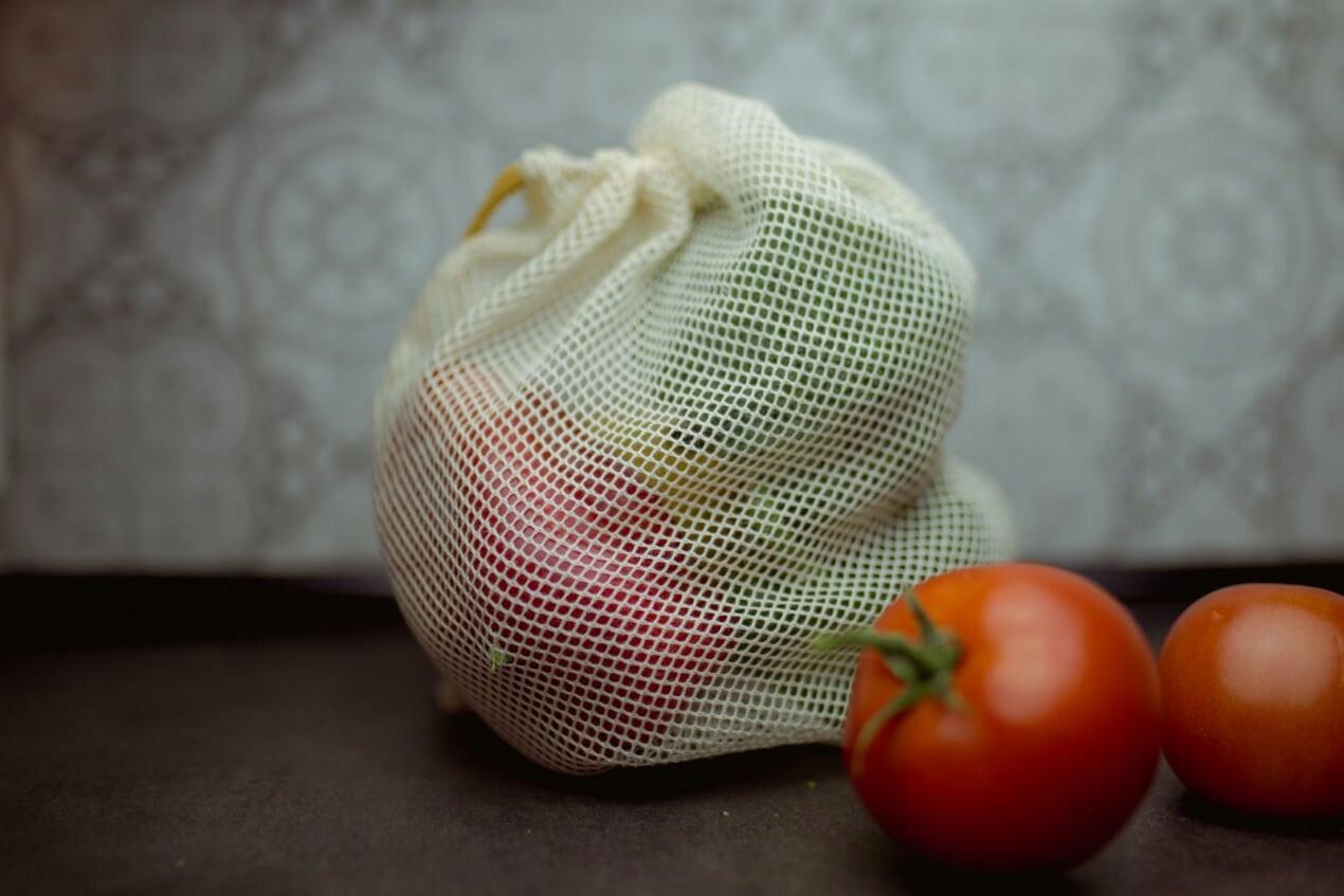 EKO woreczki ZERO WASTE siatki zakupy żywność 6szt Kolor inny