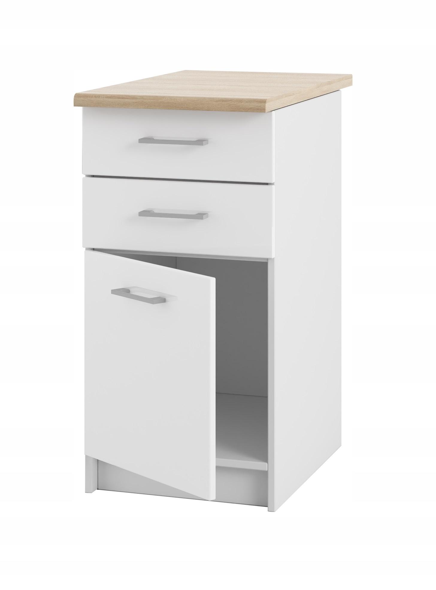 Шкаф кухонная 40 ящик Белый лак со столешницей