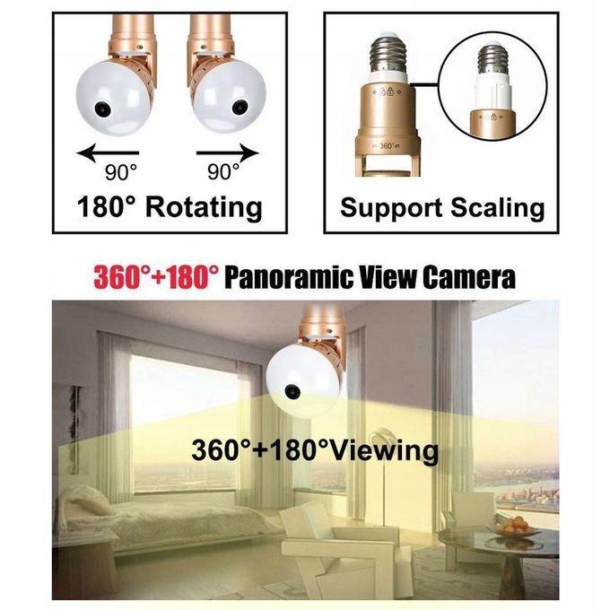 Kamera WiFi monitoring 360 Żarówka LED audio 1080P Marka wewnętrzna