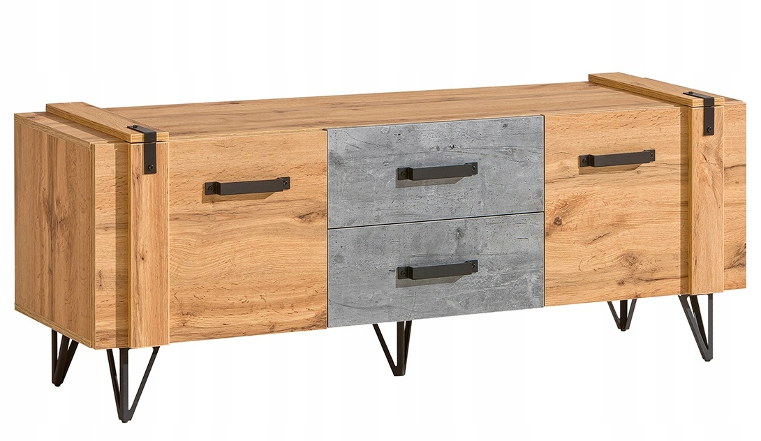 szafka pod tv rtv loftowa metalowe nogi Lofter 07