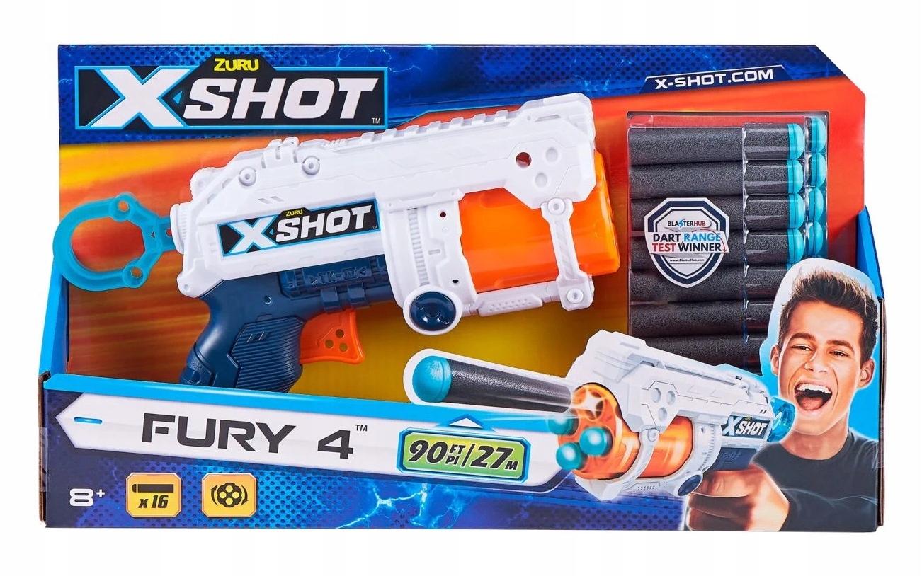 ZURU X-SHOT FURRY 4 šípy 27 m 16 šípov