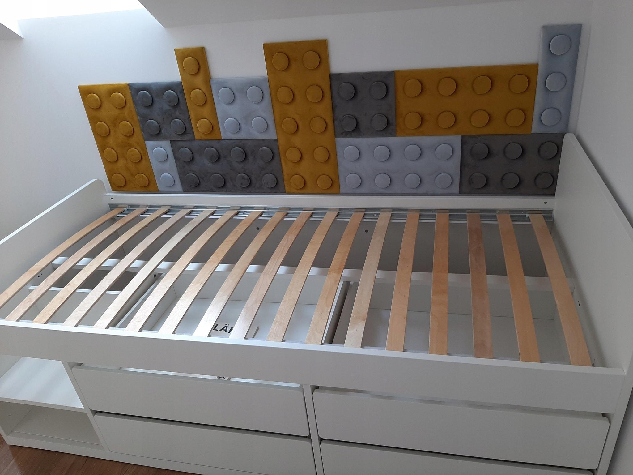 Готовый макет мягких панелей LEGO 200 см x75