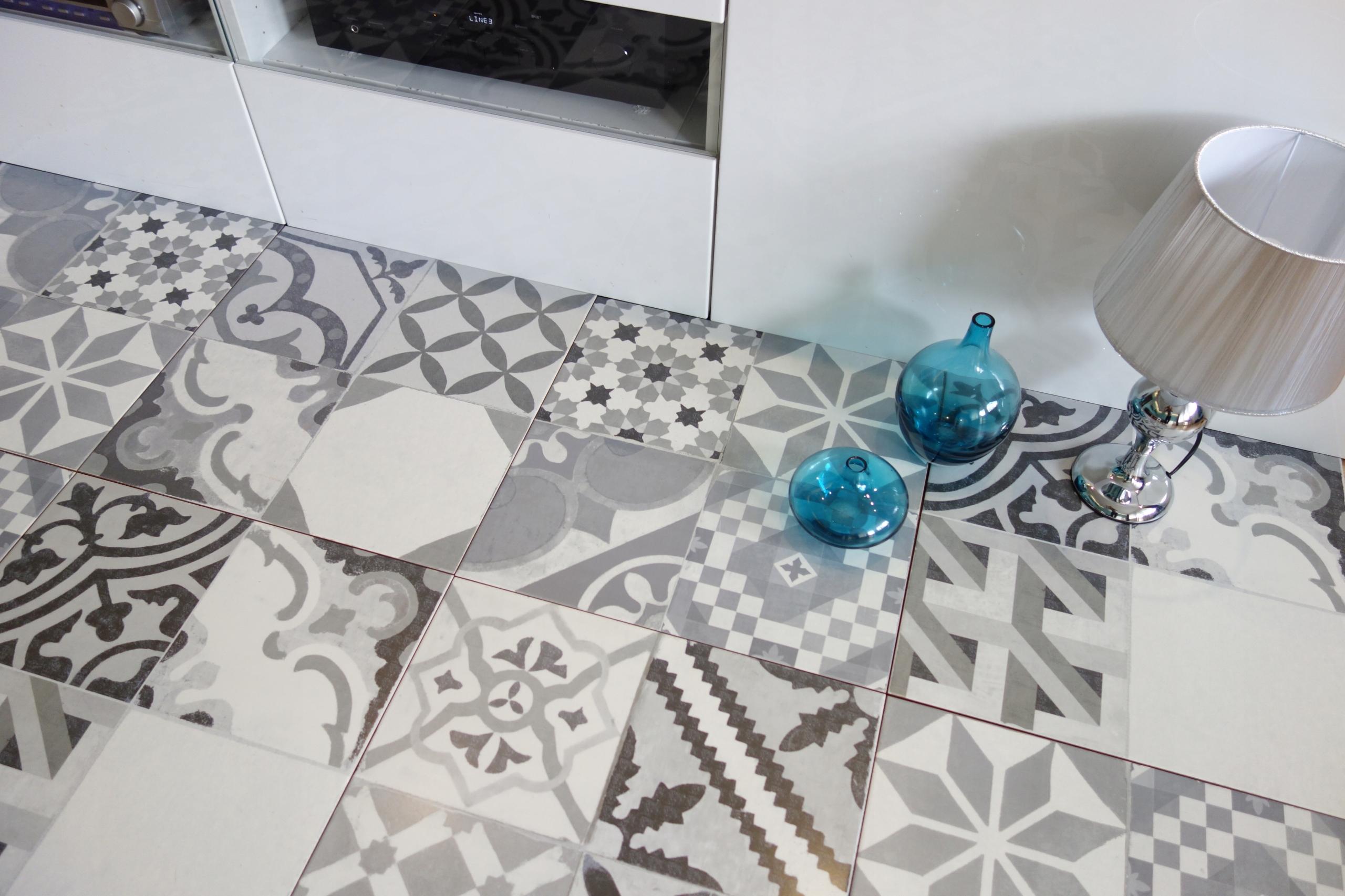 Марокканский белый серый черный PATCHWORK плитка