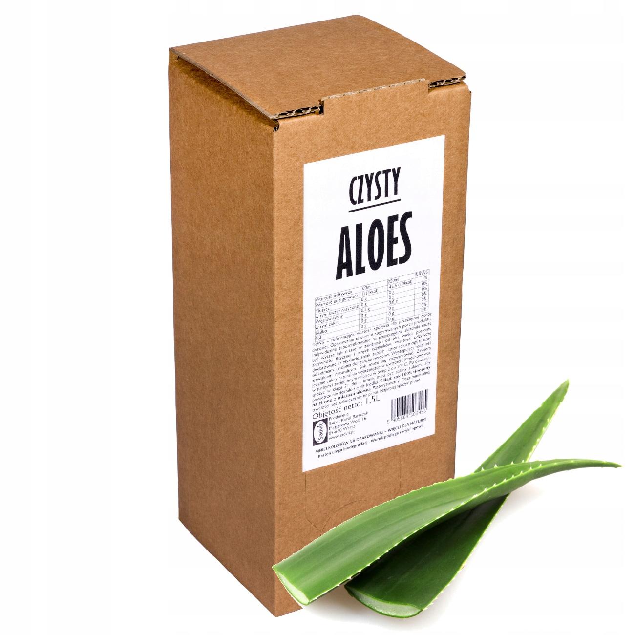 sok aloes 100% sok z aloesu aloesowy 1,5L