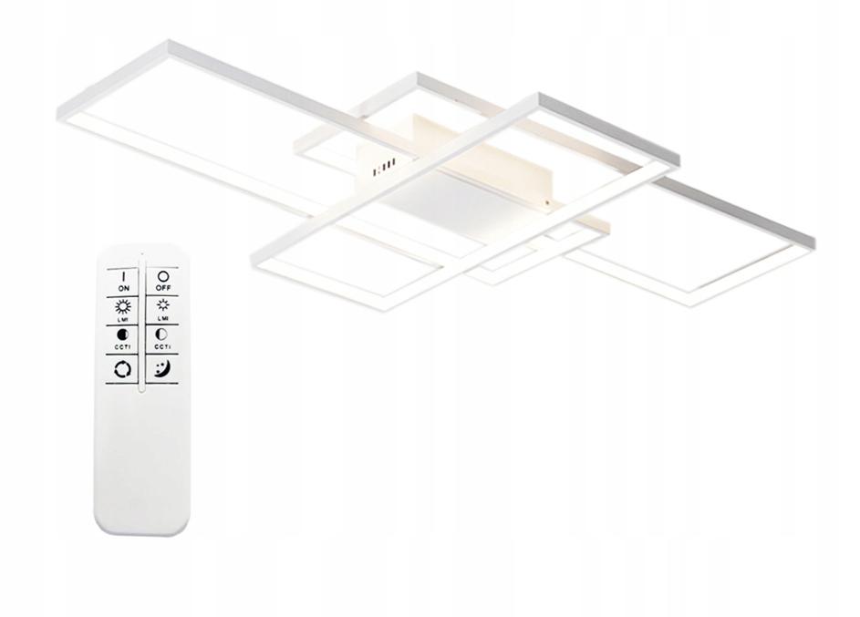 Lampa sufitowa prostokąty LED Fenix Slim III z pilotem biała