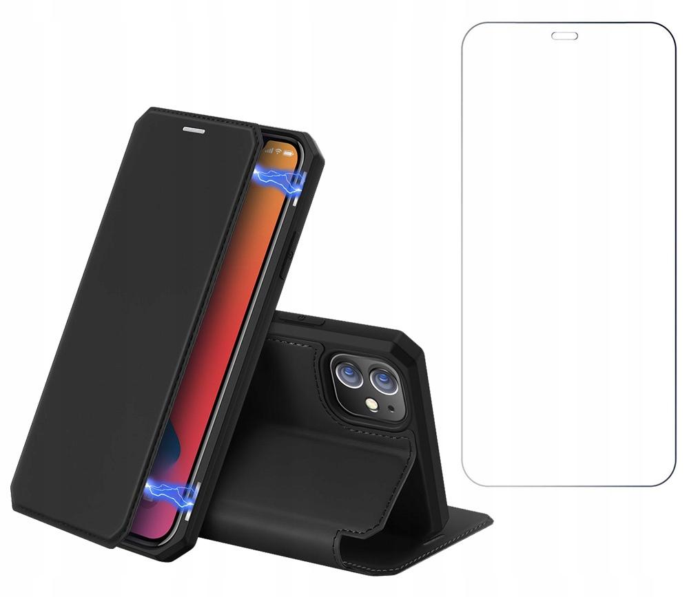 Etui Skin X + szkło do iPhone 12 / 12 Pro czarny