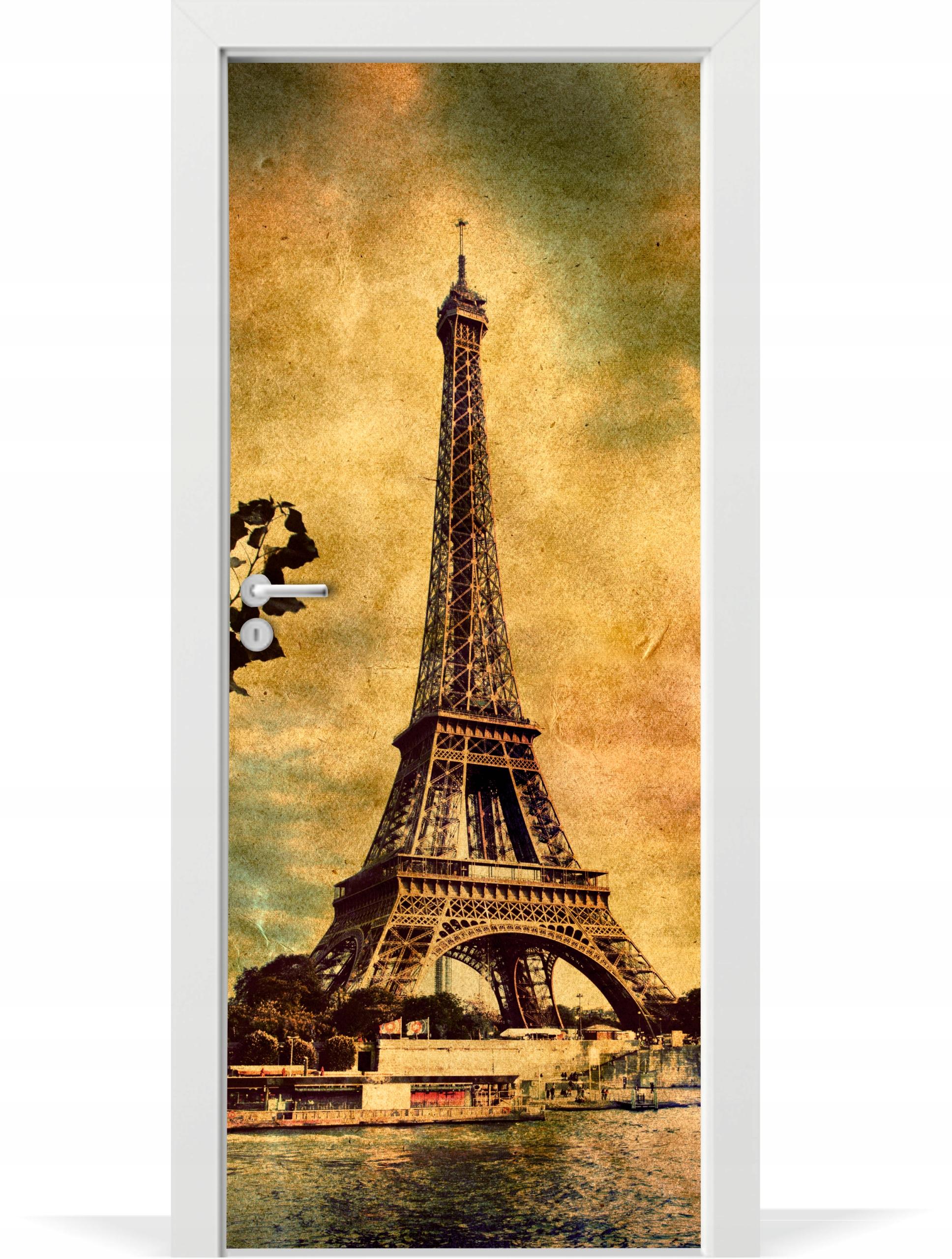 Fóliová fototapeta na dvere Retro Eiffelova veža