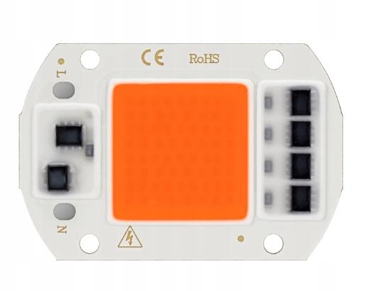 Светодиодный COB Полный спектр 30W 220V/230V Паста-Przewody