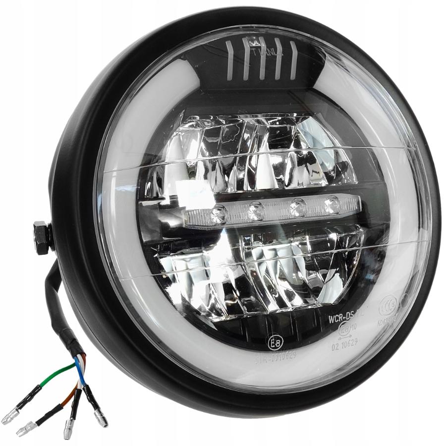 REFLEKTOR LAMPA PRZÓD MOTOCYKLOWA LED HOMOLOGACJA