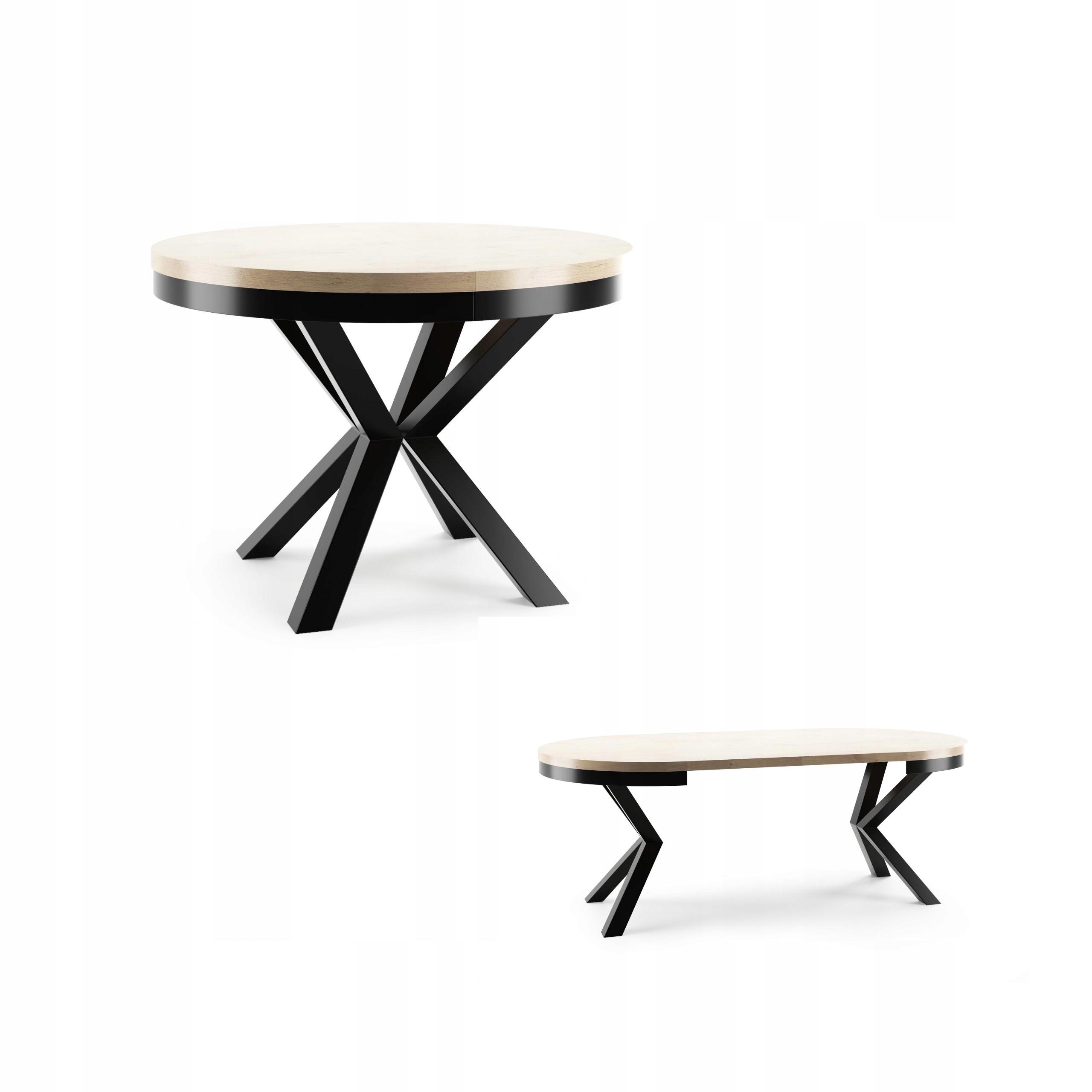Okrągły stół rozkładany 120/200 NARVIC metal