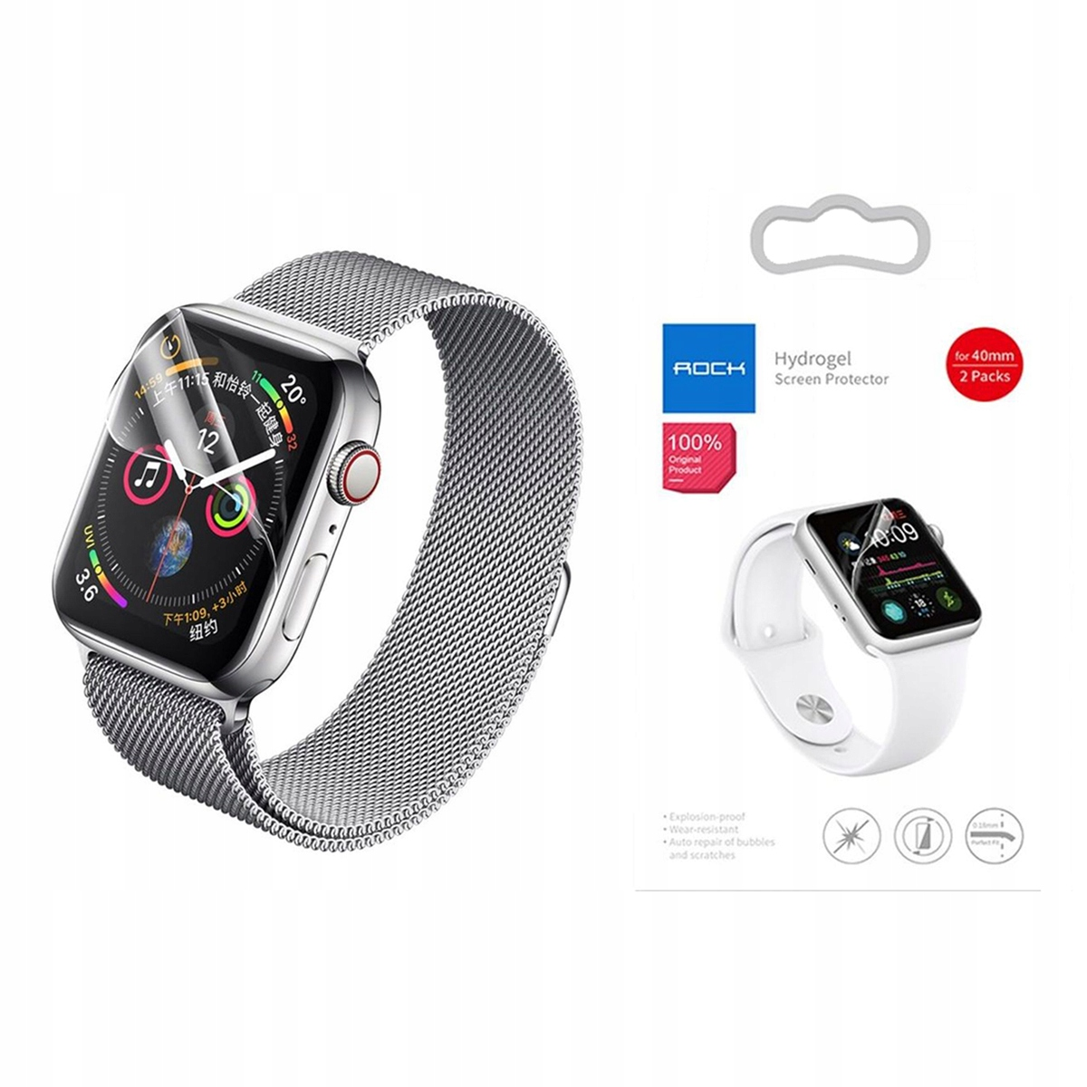 Rock Hydrogel Folia x2 Do Apple Watch 1/2/3 42MM