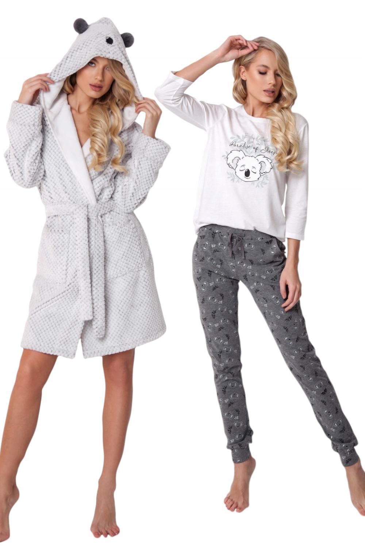 Au Zestaw Kaila piżama + szlafrok *s* szary
