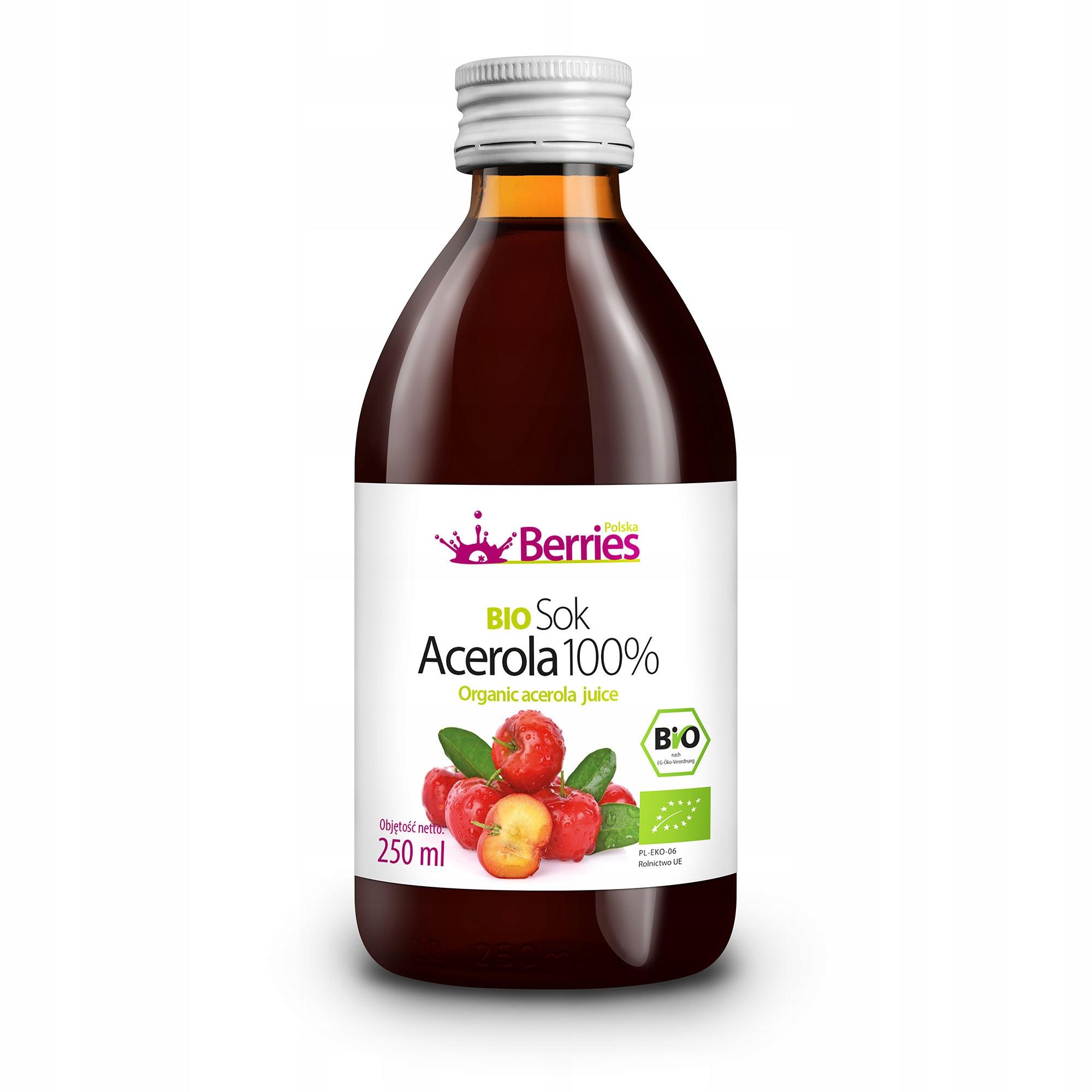 Sok BIO Acerola 100% sok z aceroli 250ml