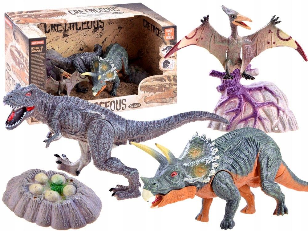 Zestaw dinozaury ręcznie malowane figurki ZA3422 Marka inna
