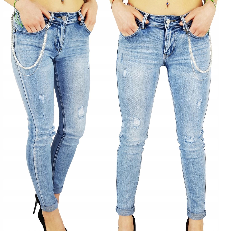 Damskie Spodnie Jeans Dopasowane Bronx Push-Up New