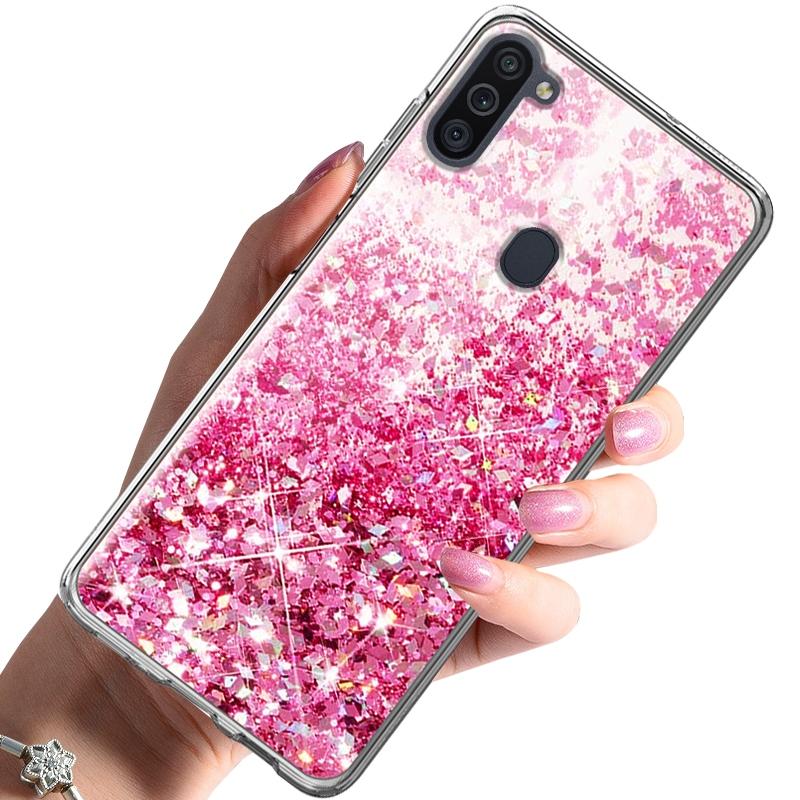 Etui do Samsung Galaxy M11 CASE BROKAT + SZKŁO 9H