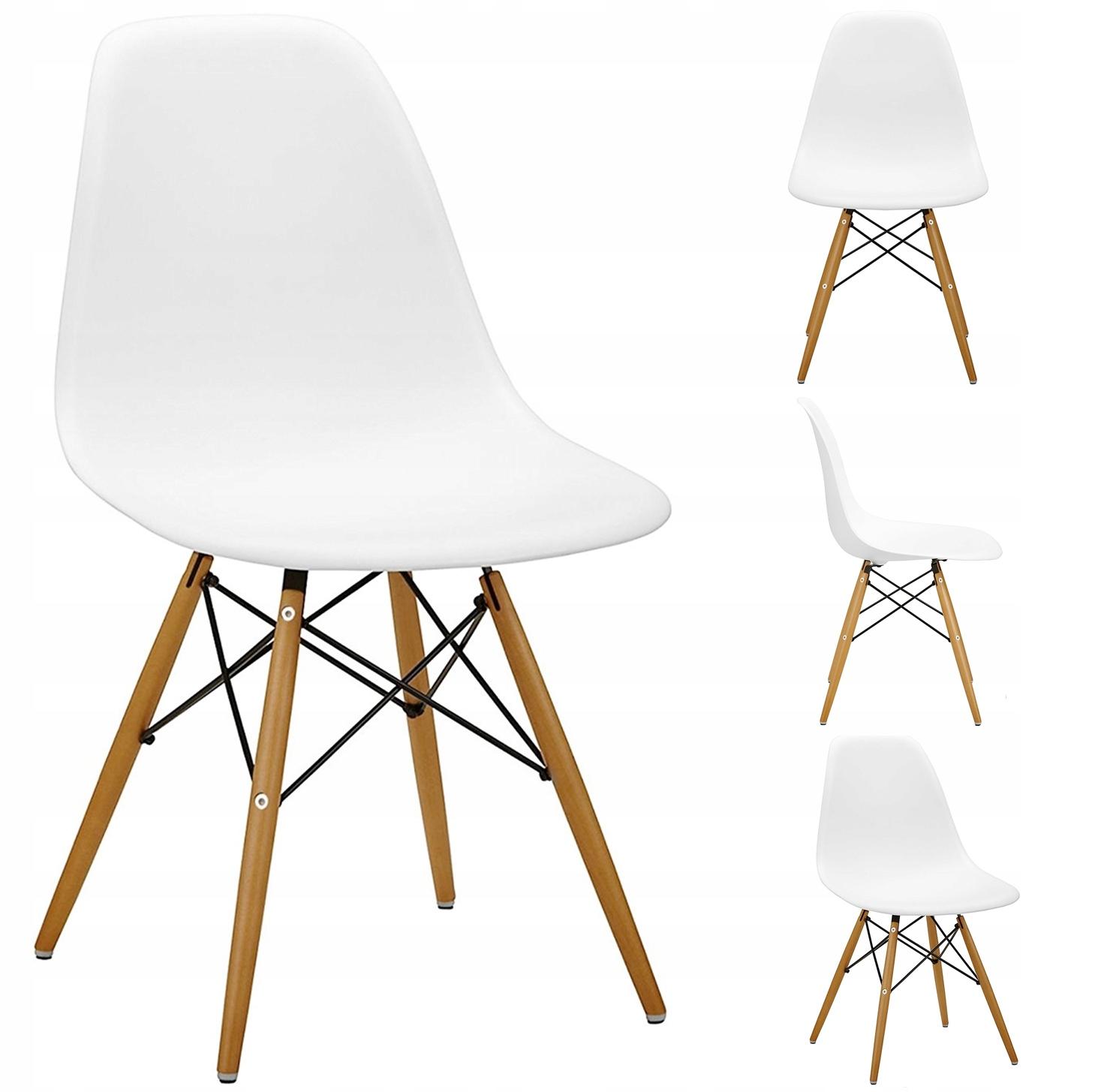 Stół + 4 Krzesła Nowoczesny Skandynawski Styl DSW Liczba elementów w zestawie 5