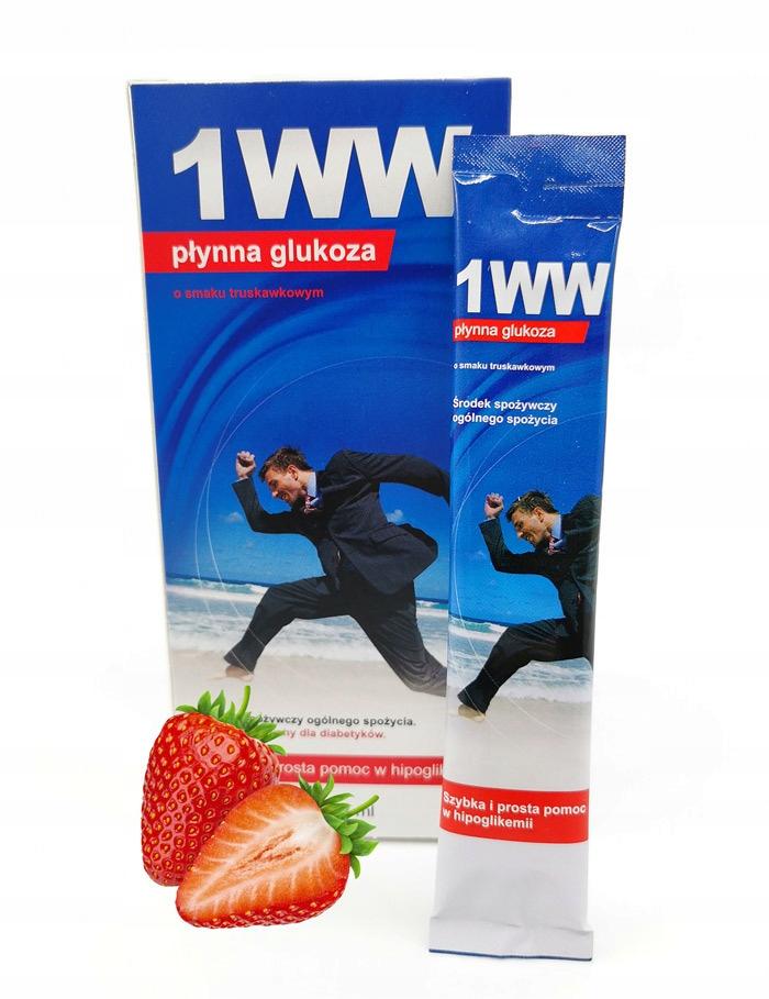 1WW жидкая глюкоза со вкусом клубники 10 штук