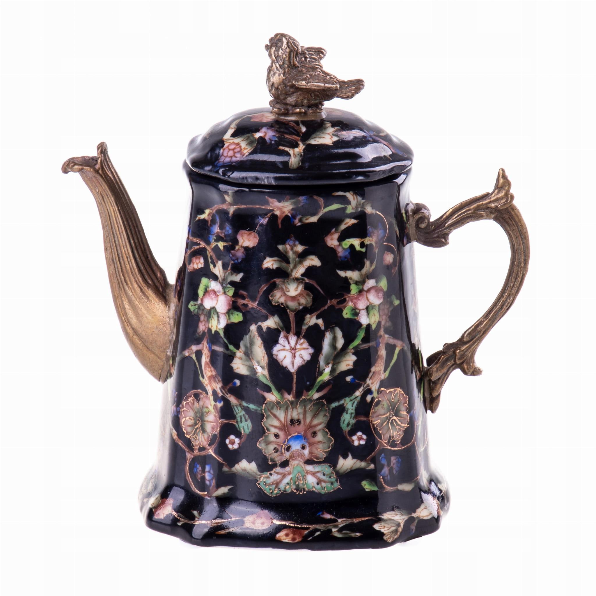 Čierny retro porcelánový džbán